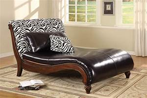 Contemporary Chaise Lounge Large Zebra Print
