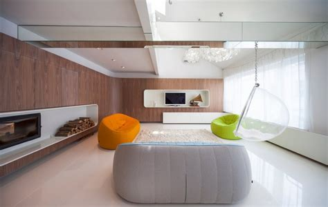 hungarian loft design uses a simple aesthetic for big