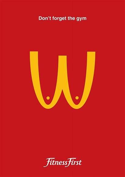 Graphic Advertising Mcdonalds Gym Elegant Uploaded Publicidad