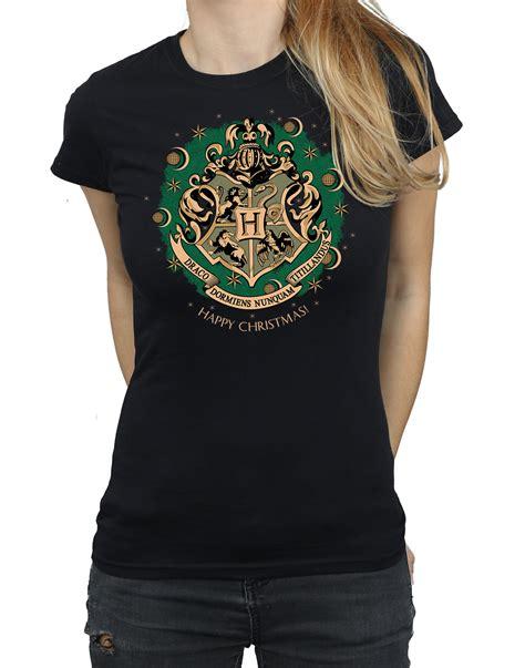 harry potter womens christmas wreath  shirt ebay