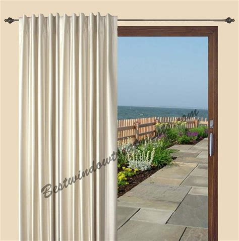 patio door insulated patio door drapes