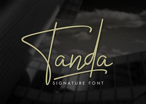 tanda signature font script fonts creative market
