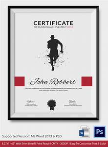 5 running certificates psd word designs design With running certificates templates free