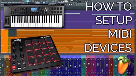 setup  midi controller keyboard  drumpad fl