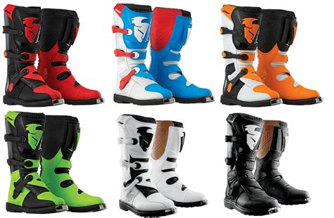 boys motocross boots thor mens youth blitz dirt bike boots off road mx gear