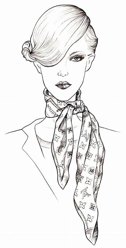 Vuitton Louis Scarves Scarf Drawing Coloring Sketches