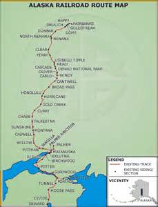 Alaska Railroad Route Map