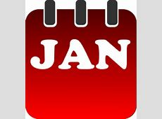 January Calendar Clip Art at Clkercom vector clip art