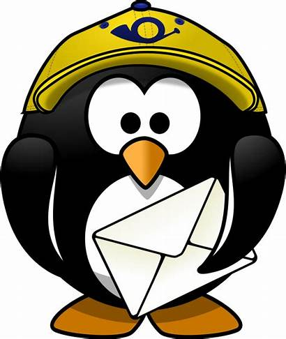 Clipart Penguin Postman Mr Motorcycle There Clip