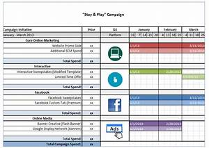 Sample budgets business new calendar template site for Campaign schedule template