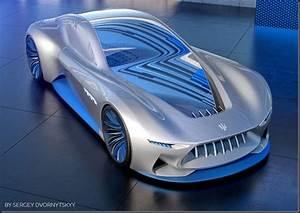 » Futuristic concept of sports car Maserati with VR ...