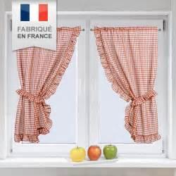 Rideau Bonne Femme Vichy by Paire De Voilage Bonne Femme H160 Cm Vichy Rouge