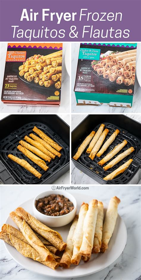 taquitos fryer frozen air flautas recipes chicken recipe cook step fried
