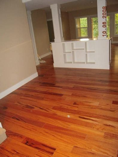 koa flooring with cherry cabinets solid 3 4 quot koa tigerwood goncalo alves