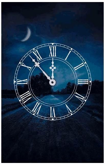 Clock Midnight Mystical Gifs Tenor