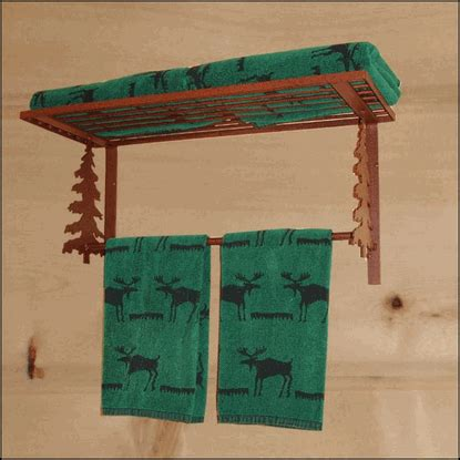 iron towel bar  shelf