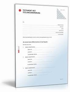 Vorsorgevollmacht Ohne Notar Gültig : testament teilungsanordnung muster zum download ~ Orissabook.com Haus und Dekorationen
