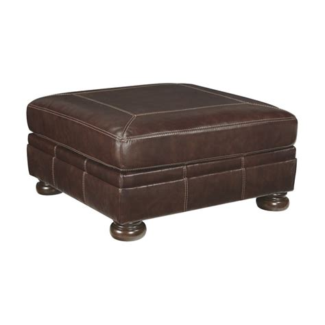 oversized leather ottoman banner oversized square leather ottoman in coffee