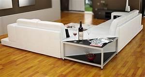 Canape d39angle en cuir a prix discount lisa for Formation decorateur interieur avec salon du cuir