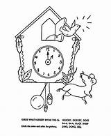 Nursery Hickory Dickory Dock Coloring Rhymes Quiz Goose Mother Bluebonkers Rhyme Sheets Colouring Printable Children Cartoon Special Learners Songs Qz sketch template
