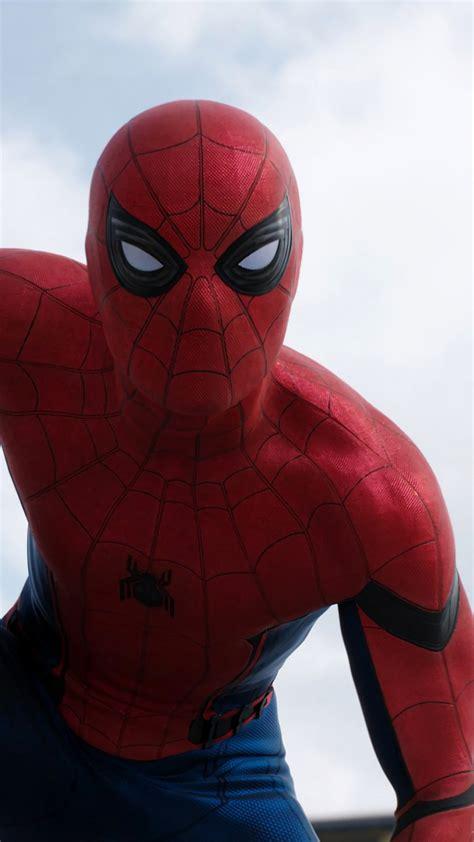 wallpaper captain america  civil war spider man marvel