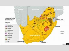 Africa Label Map South Minerals 7