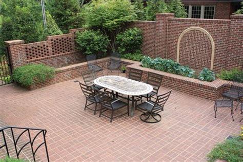 brick backyard brick patio ideas landscaping network