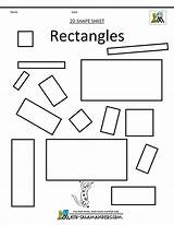 Rectangle Preschool Worksheets Shapes Kindergarten Shape Coloring Pages Clipart Clip Worksheet Rectangles Math Printable 2d Squares Tracing Pdf Library 1294 sketch template