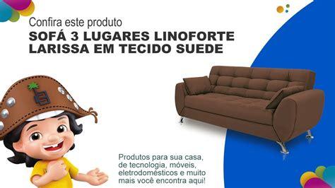 sofá 3 lugares linoforte larissa em tecido suede marrom sof 225 3 lugares linoforte larissa em tecido suede casas