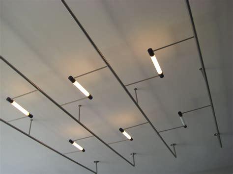 Commercial Suspended Fluorescent Light Fixtures Lighting