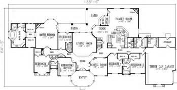 5 bedroom one story house plans mediterranean style house plans 4301 square foot home 1 story 5 bedroom and 5 bath 3