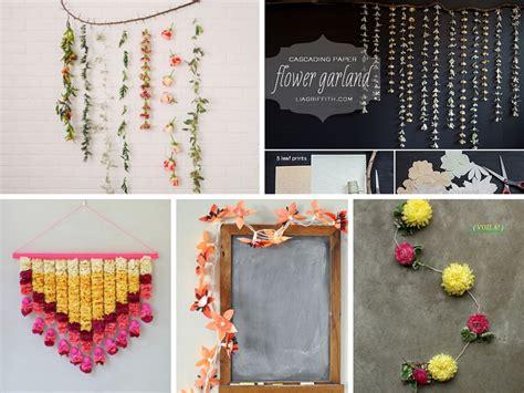 diy flower garland ideas  decorate  house