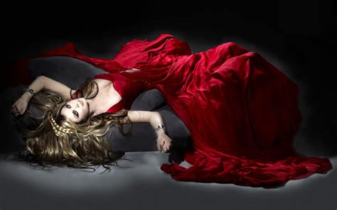 woman  long red dress widescreen wallpaper wide wallpapersnet