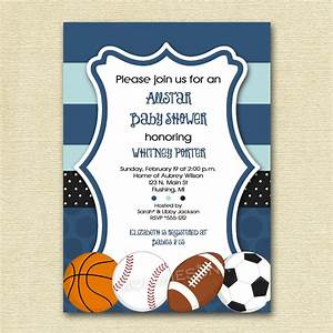 Sports baby shower invitations theruntimecom for Sports baby shower invitations templates