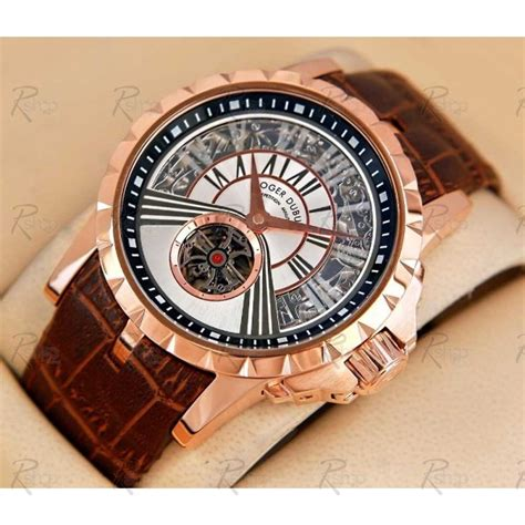 rel 243 gio r 233 plica roger dubuis excalibur minute gold white