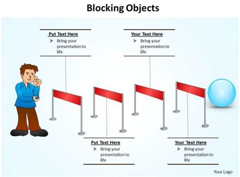 blocking objects hurdles  overcome jump track powerpoint diagram templates graphics