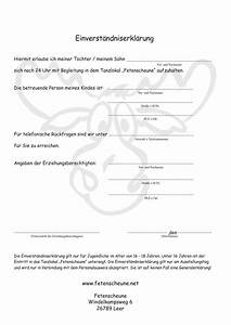 Einverständniserklärung Eltern Vorlage : einverst ndniserkl rung ~ Themetempest.com Abrechnung