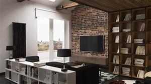 deco loft americain fabulous idee deco salle a manger With amazing meubles pour petits espaces 9 salon au style industriel bois metal