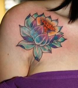 Fleur Lotus Tatouage : photo tatouage fleur de lotus paule ~ Mglfilm.com Idées de Décoration