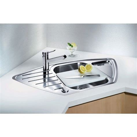blanco lantos   corner sink stainless steel  bowl sink