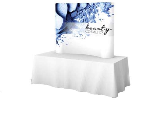tension fabric table covers tension fabric table top display table top trade show