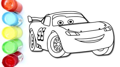 mewarnai cars lightning mcqueen dengan sempurna coloring