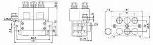 125a Dc Reversing Contactor  2 Pole  12v  24v  48v