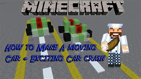 minecraft working car how to make a simple working car in minecraft car crash