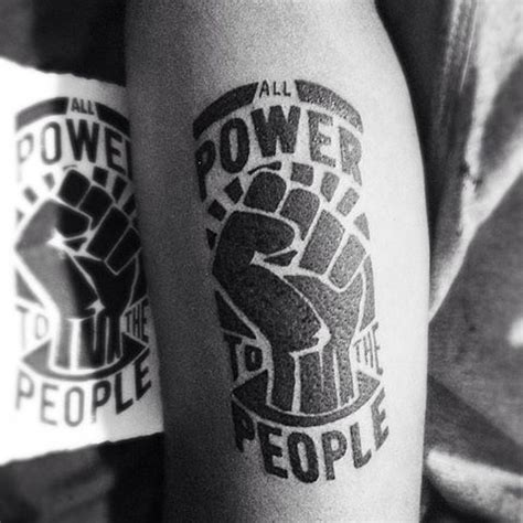 Image Result For Black Power Tattoo  Ink Pinterest