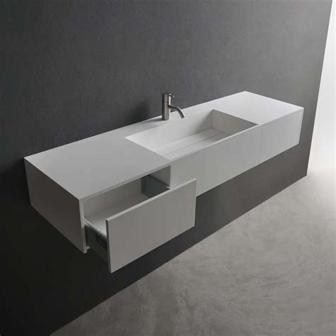 Bathroom Wall Mounted Sink In White With Modern Bathroom