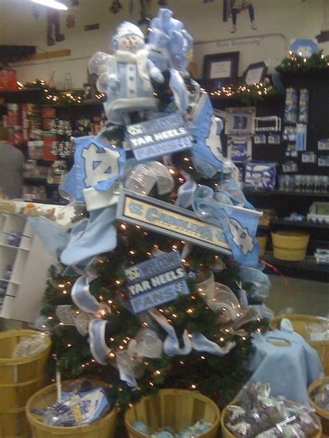 unc christmas tree  carolina pottery tar heels