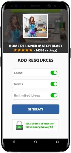 home designer match blast mod apk unlimited coins gems lives