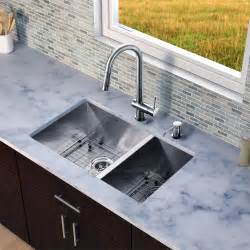 Wayfair Undermount Bathroom Sinks by Vigo 29 Inch Undermount 70 30 Double Bowl 16 Gauge