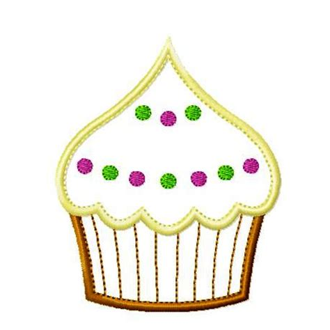 Free Machine Embroidery Applique by Big Dreams Embroidery Frosted Cupcake Machine Embroidery